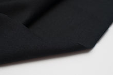 BLACK  cotton / spandex  Ribbing