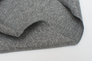 MEDIUM GRAY HEATHER  cotton / spandex  Ribbing