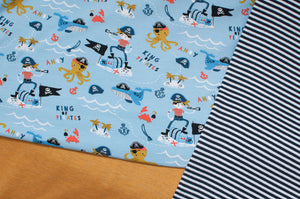 PIRATE BLEU<br>coton/spandex<br>jersey organique