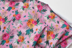 FLORAL ROSE<br>coton/spandex<br>french terry