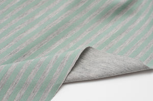 MINT AND GRAY cotton / spandex double-sided jersey