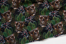 CACTUS SKULL cotton / spandex french terry