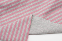PINK AND GRAY cotton / spandex double-sided jersey