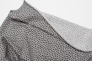 GRAY DROPLETS  cotton / spandex  Jersey