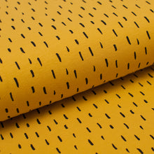YELLOW AND BLACK STRANDS  cotton / spandex  organic jersey