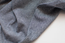 NAVY AND WHITE 1MM  COTTON / SPANDEX  DYED