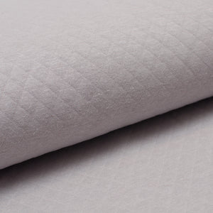 PALE GREY  100% cotton  quilted
