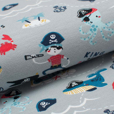 PIRATE GRIS<br>coton/spandex<br>jersey organique
