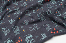 FOREST ANIMALS  cotton / poly / spandex  Jersey