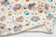 BEAR AND OWLS  cotton / spandex  organic french terry