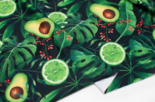 LIME AVOCADO polyester / spandex athletic jersey