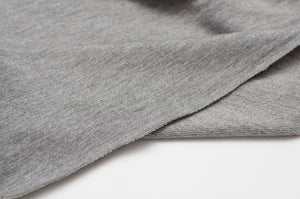 HEATHER GRAY bamboo / cotton / spandex french terry