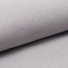 PALE GREY cotton / poly / spandex shiny french terry