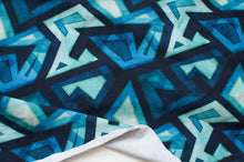 BLUE ABSTRACT cotton / spandex Jersey