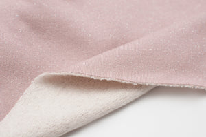 OLD PINK cotton / poly / spandex shiny french terry
