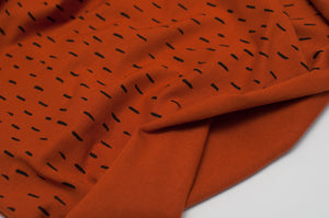 COGNAC AND BLACK STRANDS  cotton / spandex  organic jersey