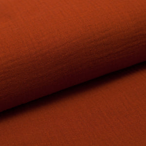 ORANGE RUST  100% cotton  double gauze