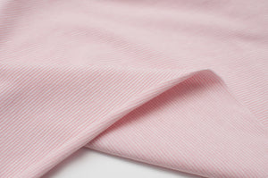 PINK AND WHITE 1MM COTTON / SPANDEX STRAND DYED