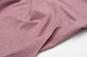 OLD ROSE HEATHER cotton / poly / spandex Jersey