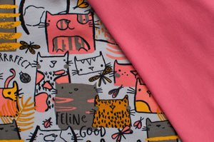 MEOW GRAY  cotton / spandex  french terry