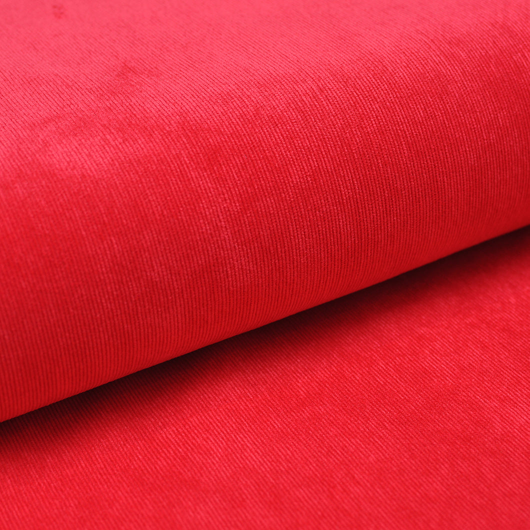 ROUGE<br>poly/nylon/spandex<br>Velours côtelé extensible