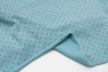 LIGHT BLUE DOT cotton / spandex organic jersey