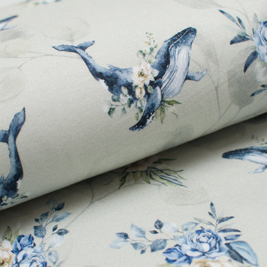 BALEINE FLORAL<br>bambou/spandex<br>french terry
