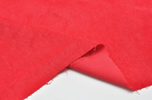 RED poly / nylon / spandex Stretch corduroy