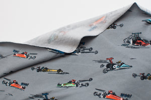 FORMULA 1 GRAY cotton / spandex brushed organic french terry