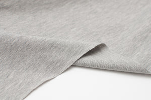 GRIS PÂLE CHINÉ<br>coton/spandex<br>french terry