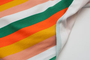STRIPED SUNSET  cotton / spandex  french terry