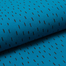 BLUE AND BLACK STRANDS cotton / spandex organic jersey