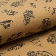 YELLOW ASTRONAUT cotton / spandex french terry