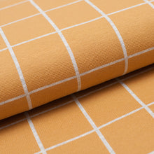 CARREAUX JAUNE<br>coton/spandex<br>interlock organique