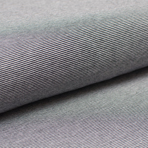 BLACK AND WHITE 1MM  COTTON / SPANDEX  DYED