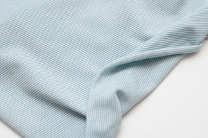 MINT AND WHITE 1MM  COTTON / SPANDEX  DYED