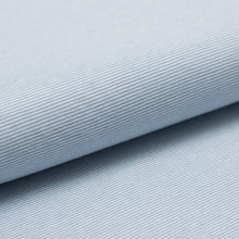 LIGHT BLUE AND WHITE 1MM  COTTON / SPANDEX  DYED