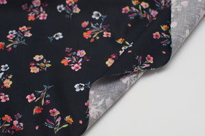 BOUQUET BLACK  100% cotton  poplin