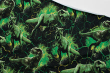 GREEN GLOSS DINO cotton / spandex french terry