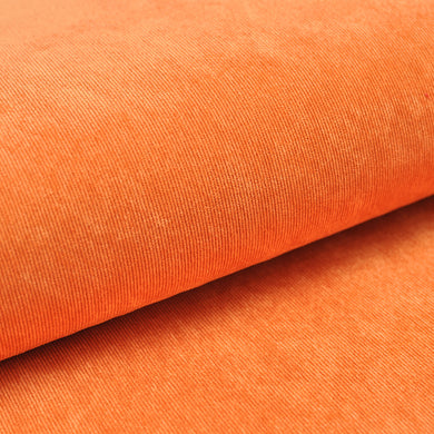 ORANGE<br>poly/nylon/spandex<br>Velours côtelé extensible