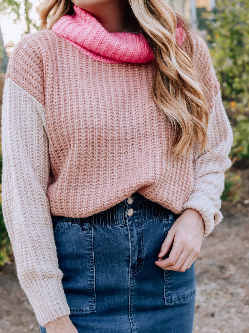 Never Too Much Mauve Sweater