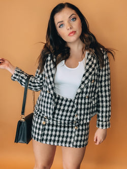 I'm Yours Black Plaid Blazer