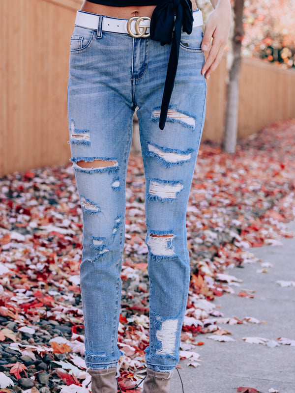 Lean On Me Distressed Jeans