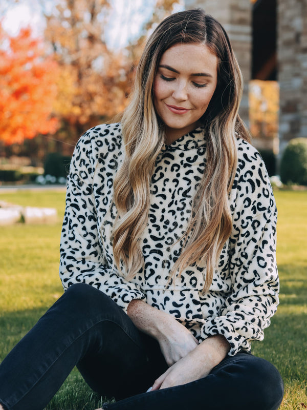 You Got It Cream Leopard Pullover