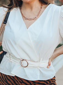 Happy Girl White Wrap Top