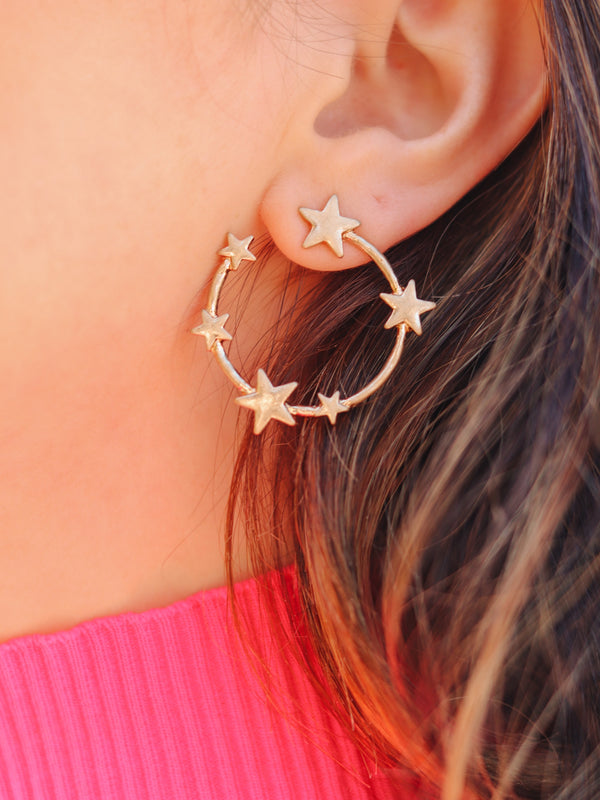 Mini Star Gold Hoops