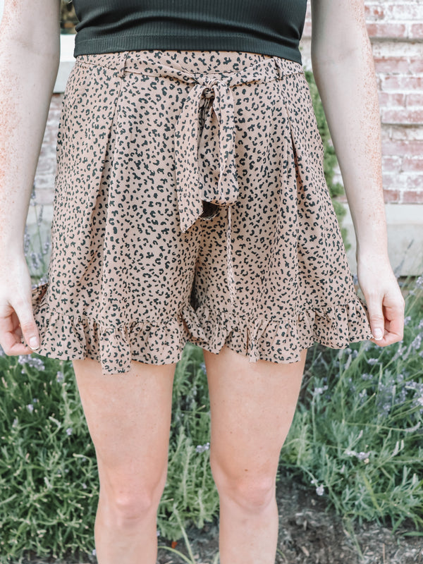 In The Jungle Leopard Shorts