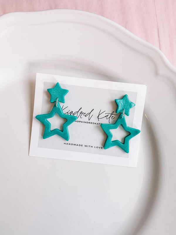 ★KINDRED KATE Blue Star Earrings★