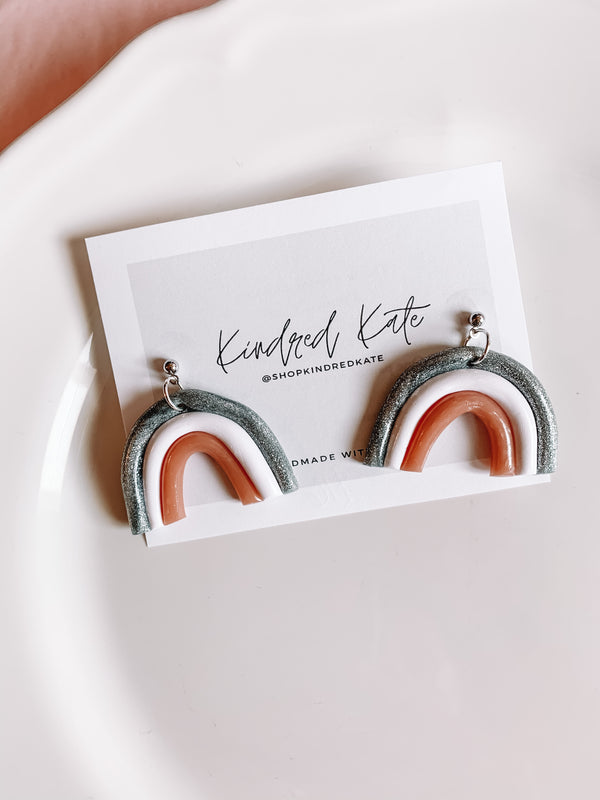 ★KINDRED KATE Silver Rainbow Earrings★