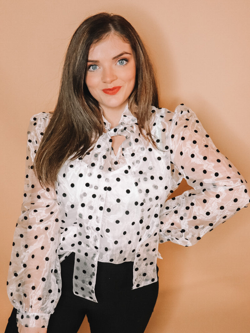 Pretty Please Polka Dot Top